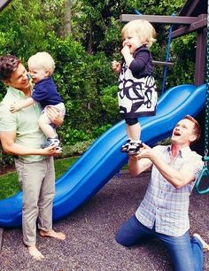 Here's a picture of Neal Patrick Harris and David Burtka, with their children Harper Grace and Gideon Scott, adorably ruining the sanctity of marriage :) love it!