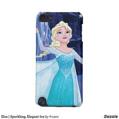 Elsa | Sparkling, Elegant Ice iPod Touch (5th Generation) Cover. Special Disney's Fozen starring Beautiful Elsa items to personalize for yourself or as a gifts to family and friends. #Disney #frozen #elsa #birthday #gifts #personalize #shopping