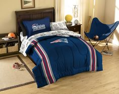 New England Patriots Twin Bedding Set NFL Football Team Logo Comforter Sheets Product photo