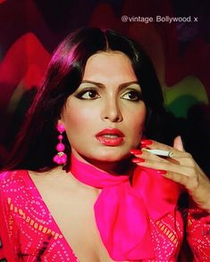 """Vintage Bollywood on Instagram: """"Parveen Babi in Pink 💖💕  Hot pink has never looked prettier 💗💞💘  Considered to be one of the most glamorous actresses in the history of…"""""""
