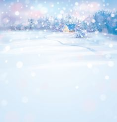 Beautiful winter natural vector backgrounds 02