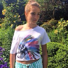Stunning Heléna rocking her new raw edge crop top wolf slouch today heading to One Direction Concert #cool #trendy #girls #fashion Thank you Heléna for the picture  www.cakoboutique.com @CAKO