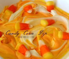 Candy corn dip perfect for fall time
