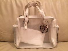 Byblos Handbag, White, Made in Italy #Byblos #Handbag #ByblosBag #BeachHandbag #ByblosHandBag #Bag #ItalianBag