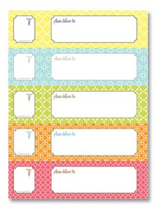 Free printable return address labels. Just add your name and print ...