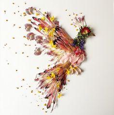 artes com plantas e flores