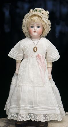 $1200  Antique German Closed Mouth Early Kestner bisque doll # 7 1/2 for French Market
