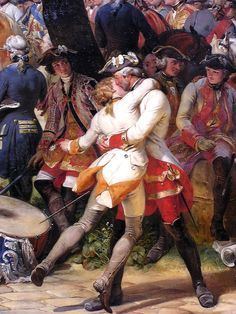 "Horace Vernet 1828 detail from ""The Battle of Fotenoy, May 11, 1745."""