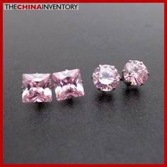 2 PAIRS STAINLESS STEEL PINK CZ STUD EARRINGS E4016C Jewelry Boxes Wholesale, Diamond Earrings, Stud Earrings, Stainless Steel, Pairs, Diamond Stud Earrings, Stud Earring