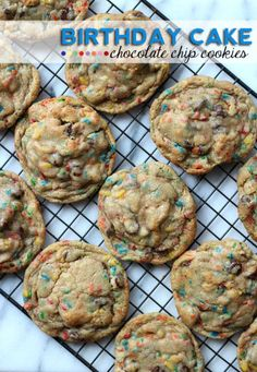 Birthday Cake Chocolate Chip Cookies #RealSummerRealFlavor