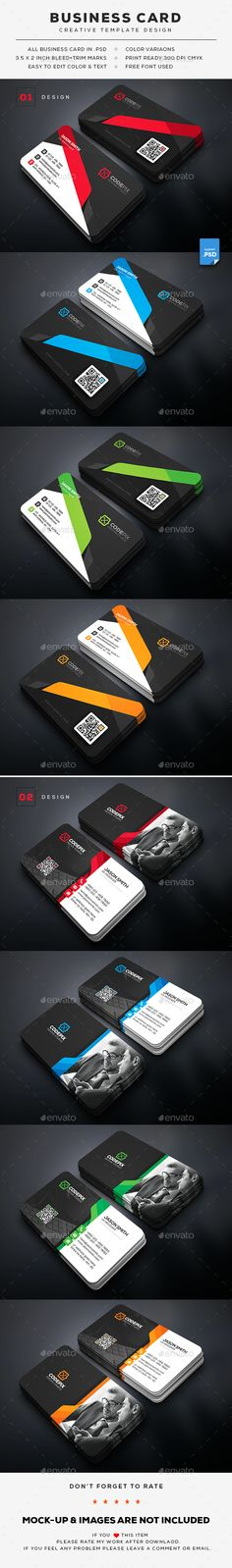 Business Card Bundle — Photoshop PSD #simple #abstract • Available here → https://graphicriver.net/item/business-card-bundle/20529485?ref=pxcr