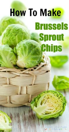 How To Make Brussels Sprout Chips, paleo, grain free, lowcarb Low Carb Recipes, Whole Food Recipes, Snack Recipes, Cooking Recipes, Healthy Recipes, Vegetarian Recipes, Dinner Recipes, Veggie Dishes, Vegetable Recipes