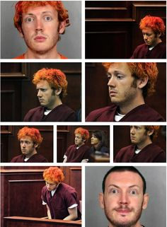 The many faces of James Holmes. Charles Whitman, Jeffrey Dahmer, Going Postal, Constitutional Rights, My Life Style, Criminology, Many Faces, Serial Killers, True Crime