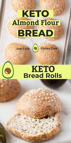 These Keto Bread Rolls are perfect for sandwiches, burgers, or simple to enjoy with butter or to soak up sauces. These low carb rolls are made with high fiber psyllium husk and almond flour. Best Keto Bread, Low Carb Bread, Low Carb Keto, No Bread Diet, Paleo Bread, Yeast Bread, Almond Flour Bread, Almond Flour Recipes, Coconut Flour Tortillas