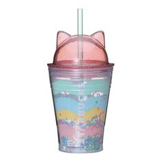 Starbucks Cold Cup Tumbler Cat Lid 355 ml cat ears from Japan Vanilla Frappuccino, Starbucks Frappuccino, Starbucks Tumbler, Summer Party Themes, Summer Parties, Kawaii Subscription Box, Heat Resistant Glass, Insulated Cups, Tumbler Designs