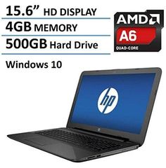 "2016 Newest HP Pavilion 15.6"" Premium High Performance Laptop PC AMD Quad-Core A6-5200 Processor 4GB RAM 500GB HDD DVD/-RW Webcam WIFI HDMI Windows 10"