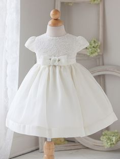 Baby Girl White Vintage Charm Lace Dress