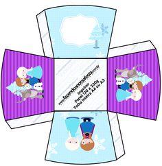 Chachepot Frozen Cute Roxo e Azul