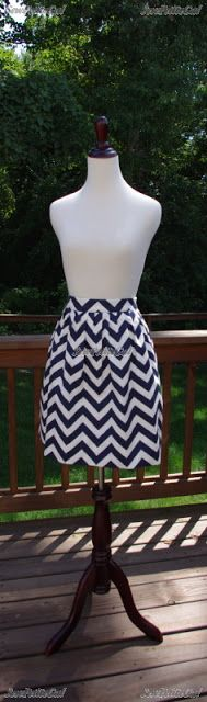 SewPetiteGal: Mother-Daughter Chevron Pleated Skirts DIY