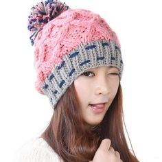 Free Shipping Women Hat For Winter Knitted Wool