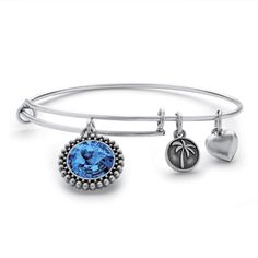 This birthstone charm bangle MADE WITH SWAROVSKI ELEMENTS celebrates a special birth month as a cherished keepsake. Each-LpZNRJkT