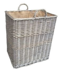 A Very Handy Split Log Basket With Divided Sections For Kindling And Logs Complete