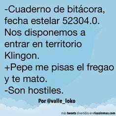 Territorio Klingon. #humor #risa #graciosas #chistosas #divertidas