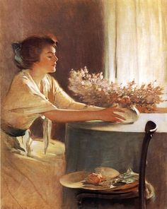 John White Alexander American Symbolist painter A Meadow Flower 1912 x cms Art And Illustration, James Mcneill Whistler, Meadow Flowers, Albrecht Durer, Oil Painting Reproductions, Renoir, Rembrandt, Beautiful Paintings, Oeuvre D'art