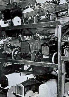 Pedal car storage.