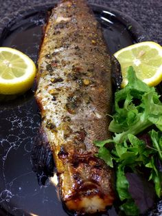 I have had the pleasure of eating a few whole grilled fish in my time but the first whole fish I grilled was Trout, and that was in Switzerland where there are lots of trout swimming around in the abundant cold lakes and streams. Whole Trout Recipes, Grilled Trout Recipes, Lake Trout Recipes, Grilled Fish, Tilapia Recipes, Grilled Salmon, Smoker Recipes, Grilling Recipes, Seafood Recipes