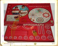 Spirograph! I loved making Spiro's with this. My sister and I did this a lot!
