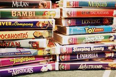 Disney Movies...and I'm pretty sure I have all of these....in VHS of course!