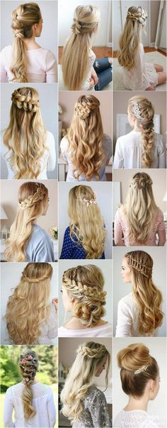 New Hairstyles Formal Prom Up Dos Ideas Nouvelles coiffures formelles Prom Up Dos Ideas # coiffures Prom Hairstyles For Long Hair, Best Wedding Hairstyles, Formal Hairstyles, Diy Hairstyles, Bridal Hairstyles, Updo Hairstyle, Hairstyle Ideas, Hairstyles 2018, Blonde Hairstyles