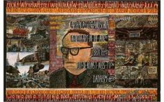 WILLEM VAN GENK (1927-2005) | SELF-PORTRAIT | 1974 | He has created an imposant oeuvre, consisting of some 100 works on paper and board, plus about seventy trolleybuses made of cardboard and scrap material and one installation, «Arnhem Bus Station». His brillant, almost maniacal detailing is a striking feature in an oeuvre with multiple layers of meaning. Power in every form is a key aspect to his work. These are all forces conspiring to suppress « the ordinary man. »