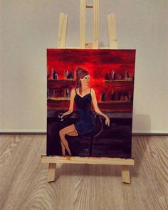 La séduction - peinture acrylique sur toile
