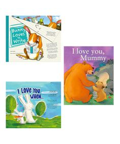 Take a look at this I Love You Mummy + I Love You When + Bunny Loves To Write by Parragon Books on #zulily today!