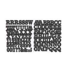 Alphabet Stickers - Black, Set of 2 Alphabet Stickers, Arts And Crafts, Paper Crafts, Glitter Glue, Glue Sticks, Home Entertainment, Craft Supplies, Entertaining, Diy
