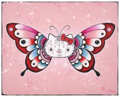 Day of the dead butterfly hello kitty.