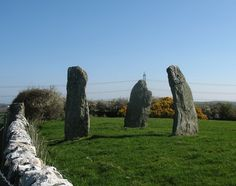 The Llanfechell Standing Stones from the south-west