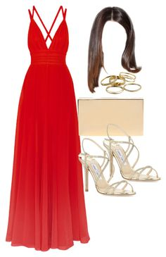 """""""Style #10491"""" by vany-alvarado ❤ liked on Polyvore featuring Elie Saab, Victoria Beckham, Jimmy Choo and Kendra Scott"""