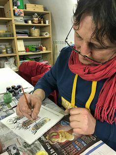 4 marzo 2017 Al lavoro nel laboratorio di ceramiche della Badalucco art gallery