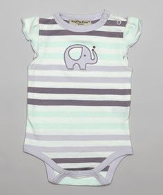 Look what I found on #zulily! Hug Me First Lavender Stripe Zoe Organic Bodysuit by Hug Me First #zulilyfinds