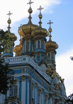 Golden Cupolas of the Catherine Palace