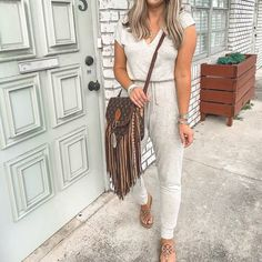 EBUYTIDE Casual Short Sleeve Solid Color Drawstring Lounge Jumpsuit – ebuytide Trendy Summer Outfits, Cool Outfits, Tomboy Hairstyles, Floral Print Maxi Dress, Jumpsuit Outfit, Home Outfit, Striped Tee, High Waist Jeans, Unique Fashion