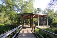 Armand Bayou Nature Center Rotary Deck overlooking the turtle pond IMG_1817 by TysonAndStacy, via Flickr