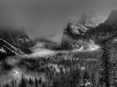 Title  Enchanted Valley In Black And White   Artist  Bill Gallagher   Medium  Photograph - Photograph