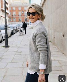 Best Fashion Ideas For Women Over 50 - Fashion Trends Older Women Fashion, Over 50 Womens Fashion, 50 Fashion, European Fashion, Fashion Outfits, Fashion Trends, Fashion Stores, Fall Fashion, Casual Fall Outfits