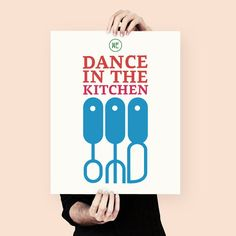 Illustrated poster we dance in the kitchen by MessProject on Etsy
