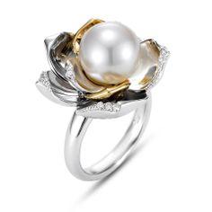 Mastoloni Pearl Flower Ring!  www.Houstonjewelry.com