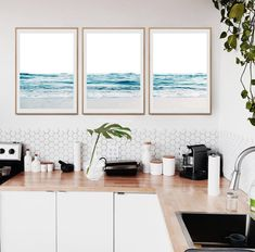 Blue Waves Posters 3 Piece Waves Ocean Waves Set Large Waves Set 3 Minimalist Waves Set Triptych Waves Art Coastal set of 3 Beach set of 3 3 Piece Wall Art, Wall Art Sets, Picture Frame Inspiration, Barn Photography, Large Waves, Triptych Wall Art, Ocean Pictures, Farmhouse Landscaping, Cactus Wall Art